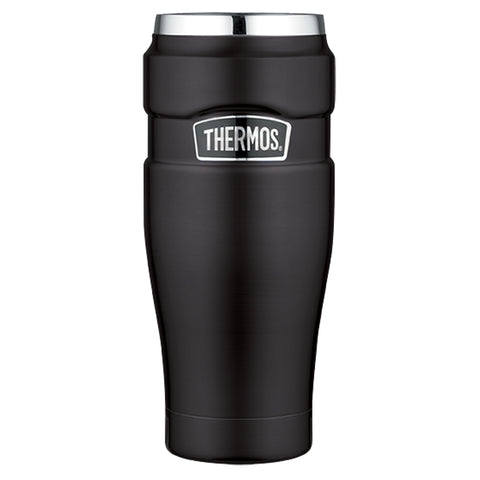 Thermos Stainless King Vacuum Insulated Travel Tumbler - 16 oz. - Stainless Steel/Matte Black [SK1005BKTRI4]
