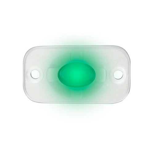 "HEISE Marine Auxiliary Accent Lighting Pod - 1.5"" x 3"" - White/Green [HE-ML1G]"
