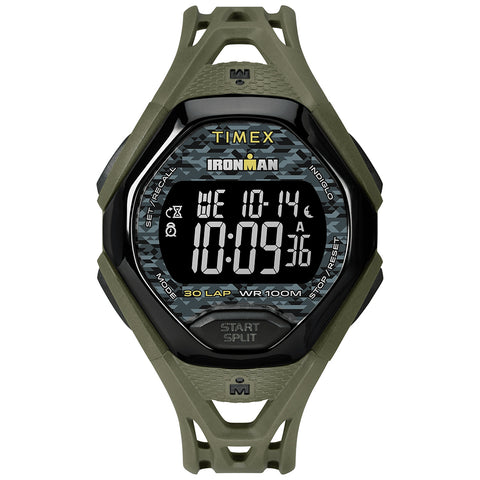Timex IRONMAN Sleek 30 Full Resin Strap Watch - Green [TW5M23900JV]