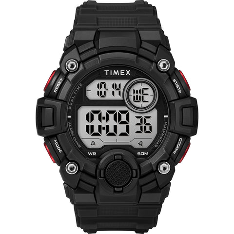 Timex Mens A-Game DGTL 50mm Watch - Black/Red [TW5M27600JV]