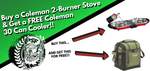 Coleman 2-Burner Stove + FREE Coleman 30 Can Cooler