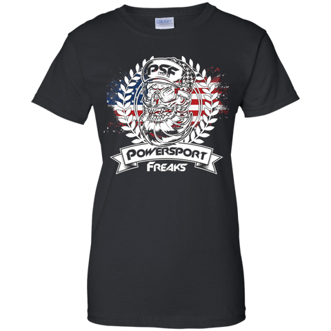 Powersport Freaks Women's Patriotic Logo T-shirt