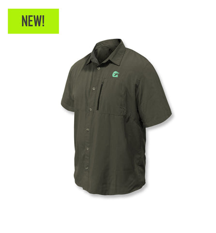 Gator Waders Layout S/S Button Down Shirt - Artillery
