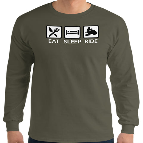 Eat, Sleep, Ride ATV Long sleeve shirt