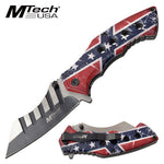 Rebel Flag Folding Knife