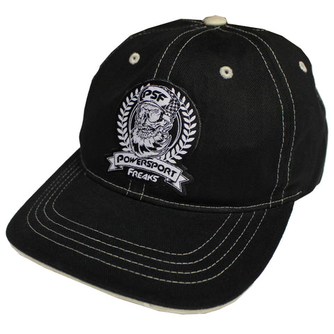PSF Skull Logo Hat - Black Threaded