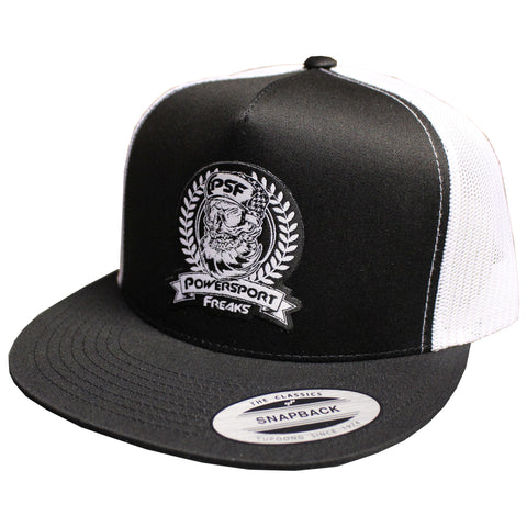 PSF Skull Logo Hat - Black/White
