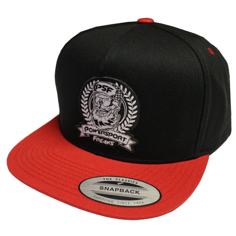 PSF Skull Logo Hat - Black & Red