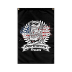 Powersport Freaks Patriotic Logo Wall Flag