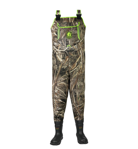 Gator Waders Men's Retro Series Neoprene Waders - Realtree Max-5/Lime