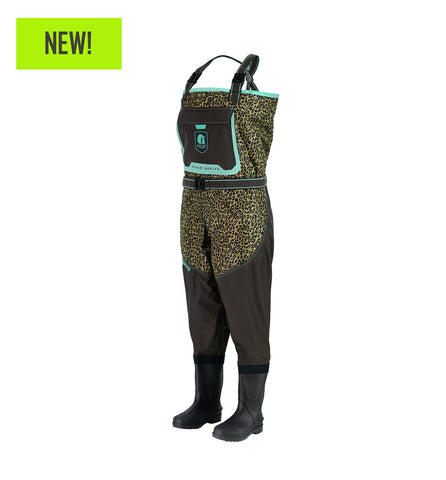 Gator Waders Women's Swamp Series 2.0 Uninsulated Breathable Waders - Leopard