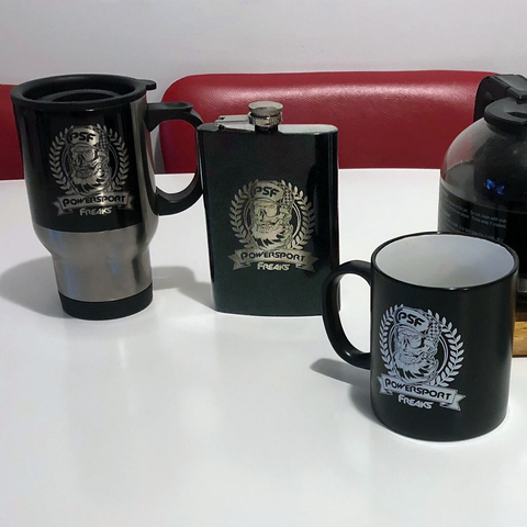 Free Powersport Freaks Flask When You Buy A Powersport Freaks Coffee Mug & Travel Mug