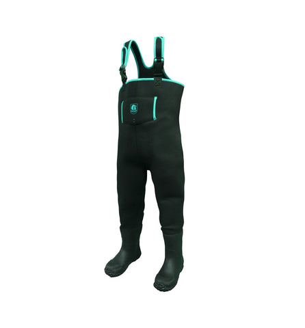 Gator Waders Youth Series Waders - Black / Aqua