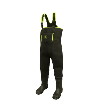 Gator Waders Youth Series Waders Black / Lime