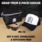 Buy a PSF Cooler, Get a PSF Hat, Keychain, & Sunglasses for FREE