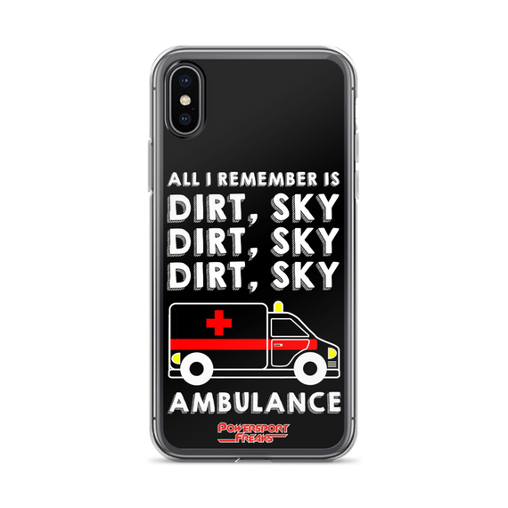 Dirt Sky Ambulance Phone Case - iPhone X