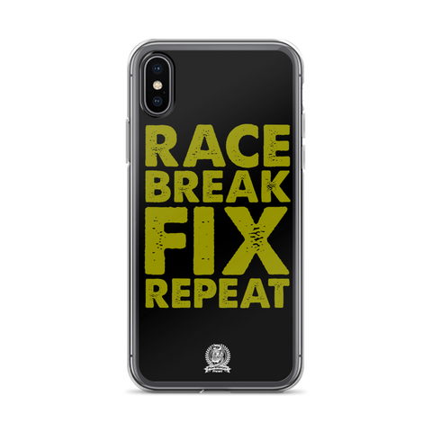 Race Fix Break Repeat Phone Case - iPhone X