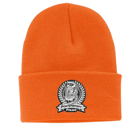 Safety Orange PSF Skull Logo Beanie