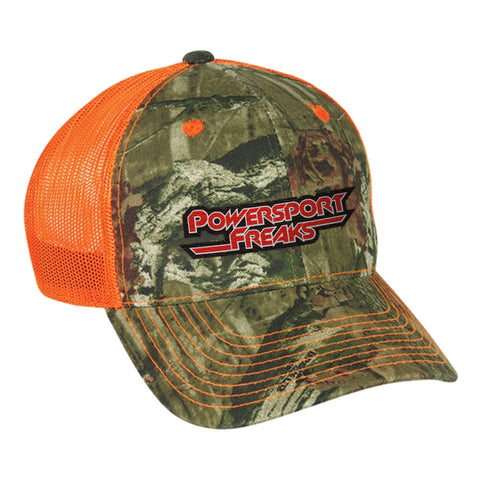 Safety Orange Camo Original Logo Hat