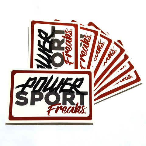 Powersport Freaks Vintage Logo Stickers (Set of 2)
