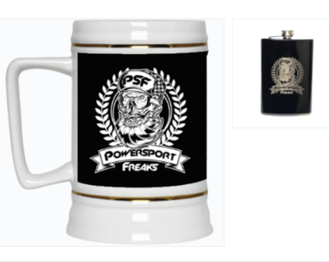 Buy a PSF Skull Logo Beer Stein & PSF Skull Logo Flask, SAVE 30%!