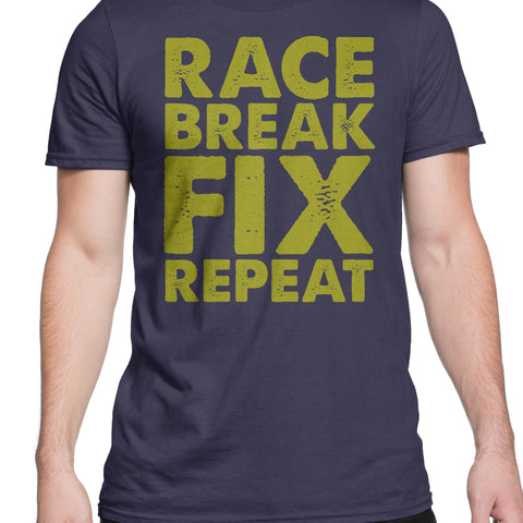 Race, Break, Fix, Repeat T-Shirt