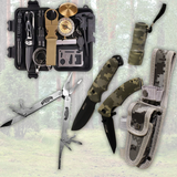 Buy a Survival Kit & 3 Piece Knife Kit, Get a Powersport Freaks Multi Tool Free