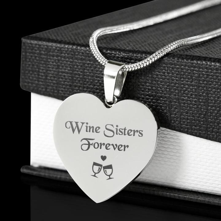 Wine Sisters Forever Necklace
