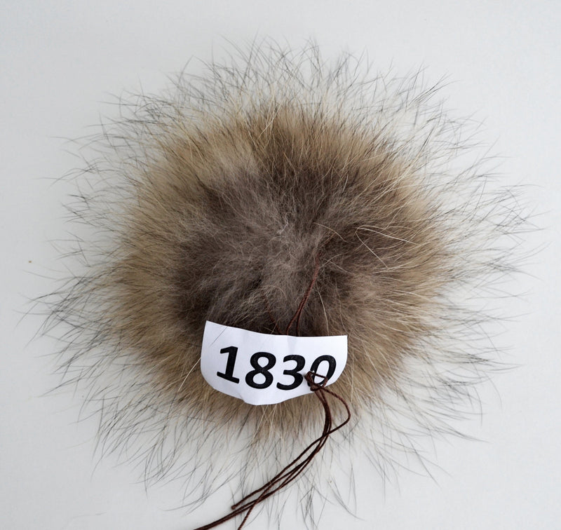 "8"" FUR POM POM! Fur PomPom Real Fur Pom-Pom Raccoon Pom Pom Large Pom Pom Hat Knitted Children Cap Beanie Women Tuque  Real Fur Hat Pom Pom"
