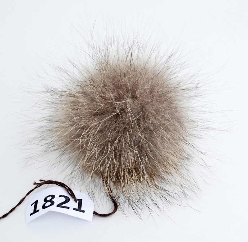 "7"" Raccoon Pom Pom! Large Pom Pom Hat Raccoon Pompom Natural Fur Pompom Large Pom Poms Fur Ball Detachable Pom Pom Hat Beanie Children Women"