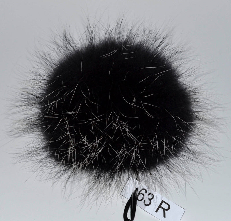 "8"" FUR POM POM! Raccoon Fur Pom-Pom Hat PomPom Unique Black Raccoon Pom Pom Large Fur Pom Pom for Knitted Hat Raccoon Fur Hat Beanie Child"