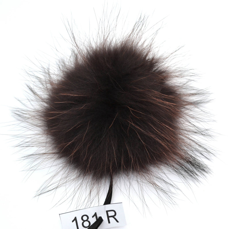 "8"" POM POM! Large Pom Poms, Fur Pom Pom for Hat, Fur Pompom, Fur Ball, Bag Charm, Pompom, Fur Pom, Knit Hat, Real Fur, Brown, Gray, Red, Kid"
