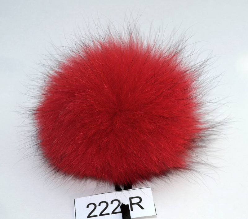 "7,5"" FOX FUR POMPOM! Red Pom-Pom, Fox Pom Pom, Real Fur Pom Pom, Genuine Fur, Pom Pom for Winter Hat, Pom Pom for Women Hat, for Knitted hat"