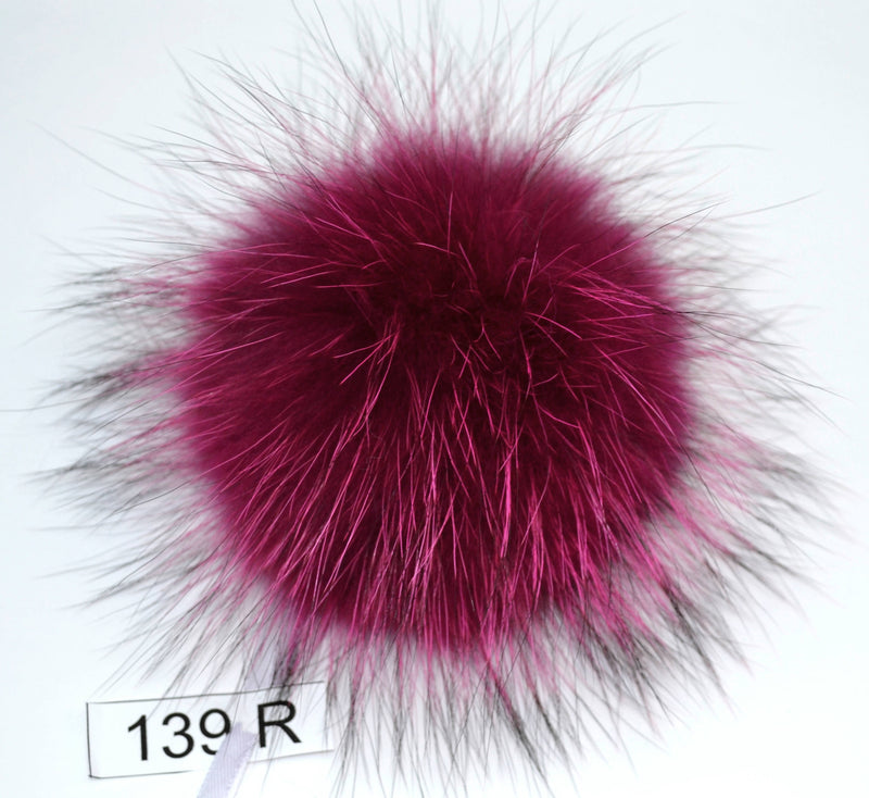 "8,5"" POM POM! Large Pom Poms, Fur Pom Pom for Hat, Fur Pompom, Fur Ball, Bag Charm, Pompom, Fur Pom, Knit Hat, Real Fur, Raccoon Fur, Red"