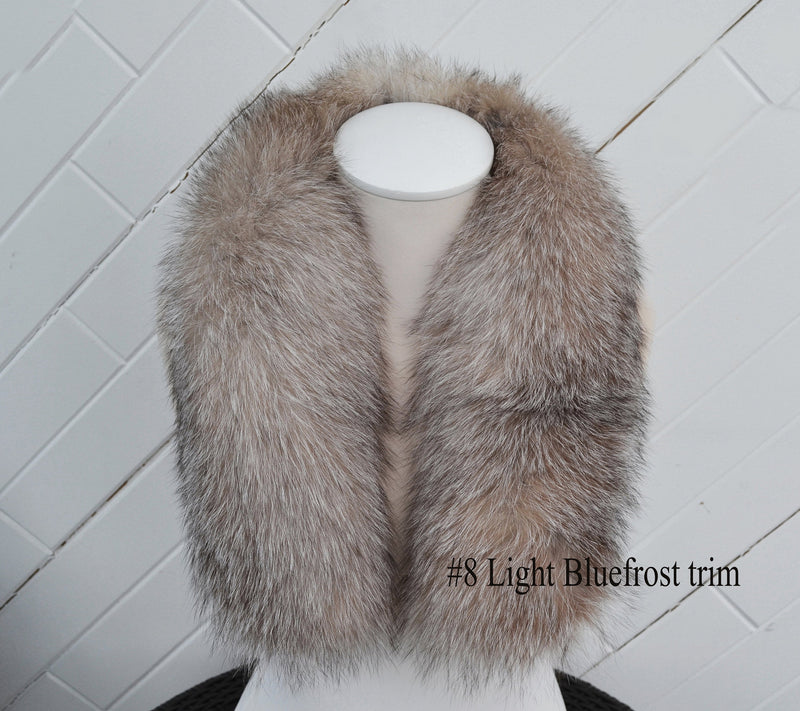BY ORDER Finnish Silver Fox Fur Trims for Hood, Fur Replacement