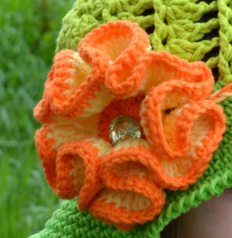 Flower Crochet Pattern, Big Flower with Diamond Center, Crochet pattern, Beautiful, Large flower pattern, Fall flower, flower pattern