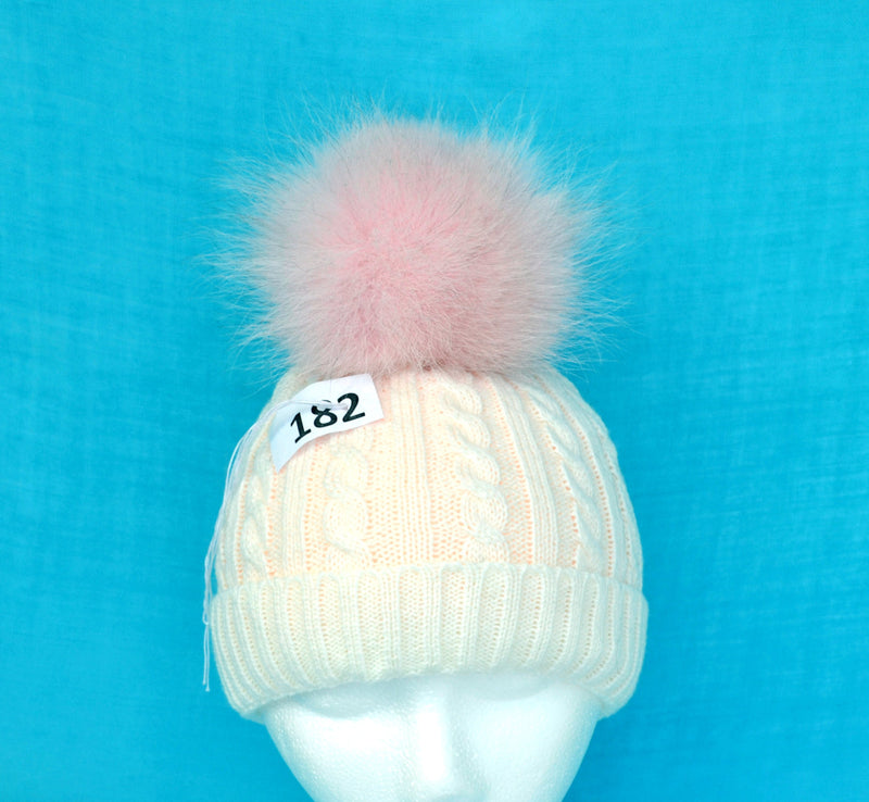 PALE PINK POM Pom! Real Fox Pom-Pom, Fur Pom Pom, Ideal for knitted hats, Hat Pom Pom, Fur Pom Pom Balls, Knitted hat, Pom Pom for Child hat