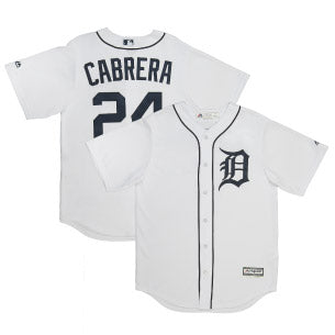 Adult Detroit Miguel Cabrera White Cool Base Jersey