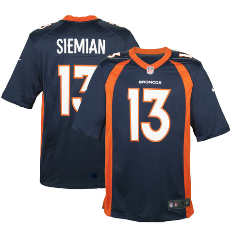 Adult Denver Trevor Siemian Nike Navy Game Jersey
