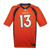 Youth Denver Trevor Siemian Nike Orange Game Jersey