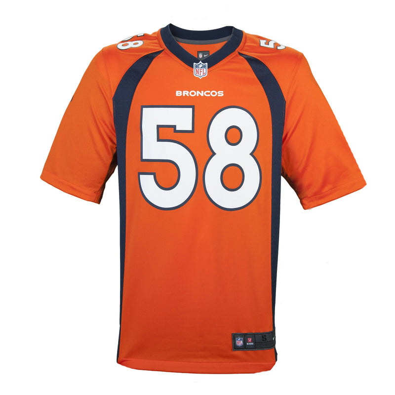 Adult Denver Von Miller Nike Orange Game Jersey