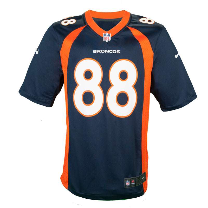 Authentic Autographed Adult Denver Demaryius Thomas Nike Navy Game Jersey