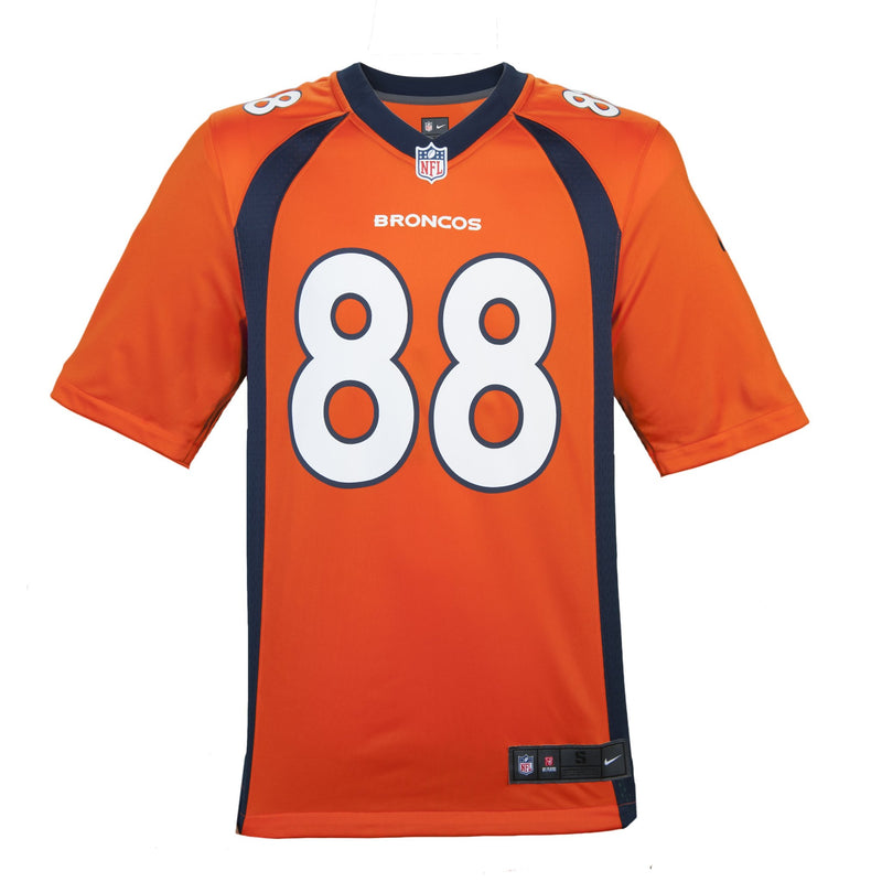 Adult Denver Demaryius Thomas Nike Orange Game Jersey