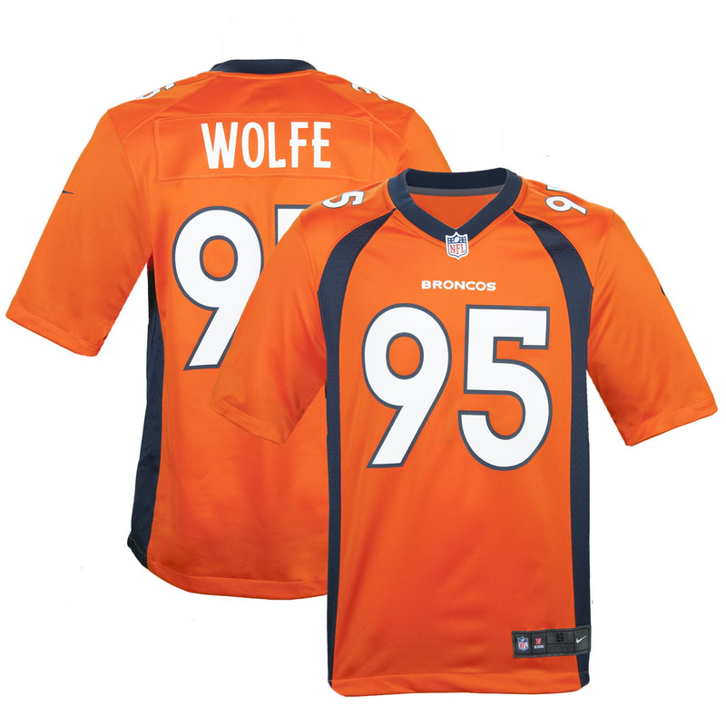 Adult Denver Derek Wolfe Nike Orange Game Jersey