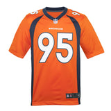 Youth Denver Derek Wolfe Nike Orange Game Jersey