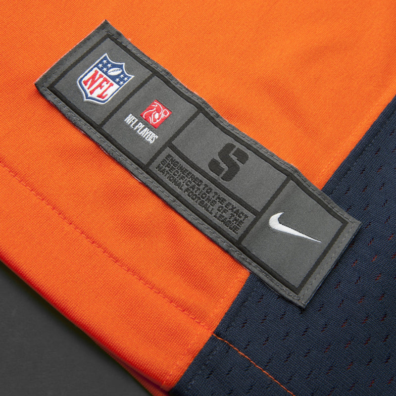 Adult Denver John Elway Nike Orange Game Jersey