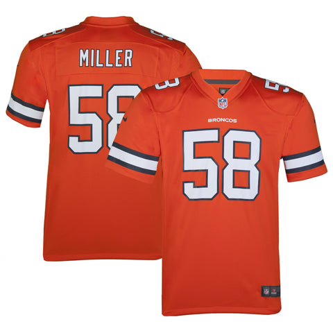 Youth Denver Von Miller Nike Orange Crush Color Rush Game Jersey