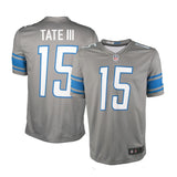 Adult Detroit Golden Tate Nike Silver Color Rush Legend Jersey