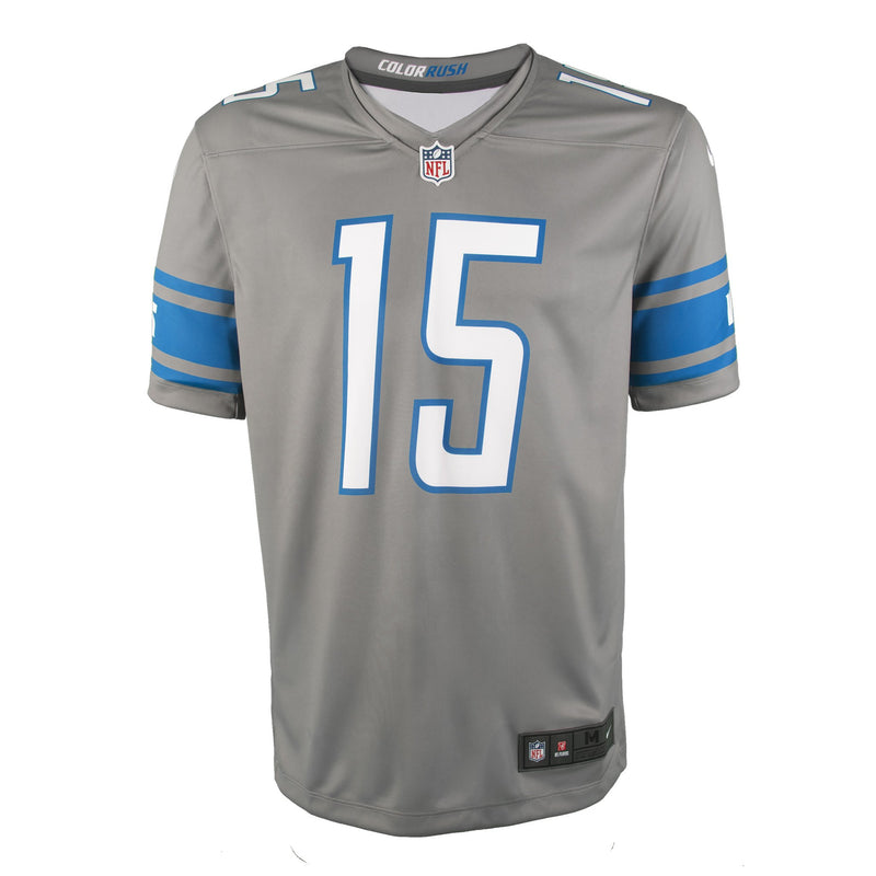 Youth Detroit Golden Tate Nike Silver Color Rush Game Jersey