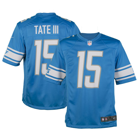 Adult Detroit Golden Tate Nike Honolulu Blue Game Jersey
